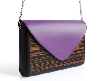 Lemnia Handcrafted Wooden Bag - Ebony Lilla
