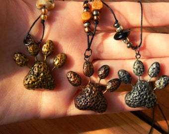 Paw Prints for Rescue Necklaces
