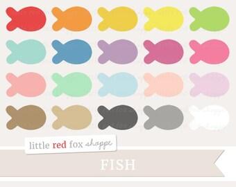 Fish Clipart, Goldfish Clip Art Ocean Animal Sea Pet School Aquatic Marine Nursery Cute Digital Graphic Design Small Commercial Use