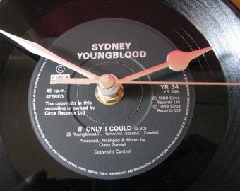 "Sydney Youngblood if only i could  7"" vinyl record clock"