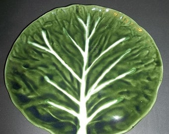 ON SALE WAS 19.99.....Cabbage Leaf Majolica