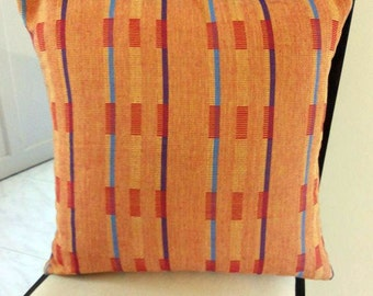 20x20 Indian Cushion Cover Yellow Orange Blue Multicoloured Decorative Throw Pillow Cover Handemade Indian Toss Accent Sofa Cushion Covers