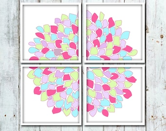 SALE - 20% OFF - Flower Nursery Art for Baby Girl - You Pick the Colors!