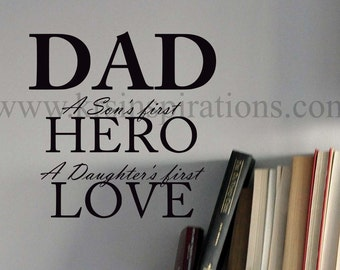 Best Dad wall decal