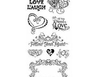 "Inkadinkado ""Love and Friendship""/love stamp/friendship stamp/valentine"