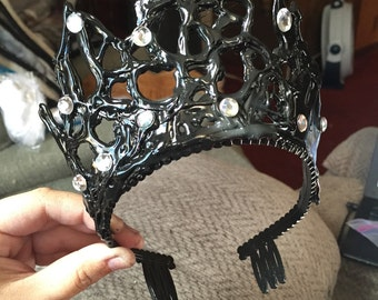 Handmade to Order: Black Swan Movie Inspired Tiara - Cosplay, Halloween, Dress-up, Ballet