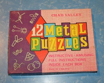 Chad Valley Vintage Metal Puzzles in Original Box