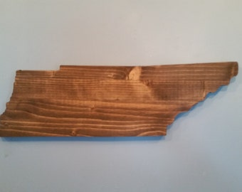 Rustic Tennessee State Sign/Plaque , add an engraved heart to your location