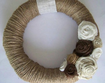 Wrapped Up In You Burlap Flower Wreath