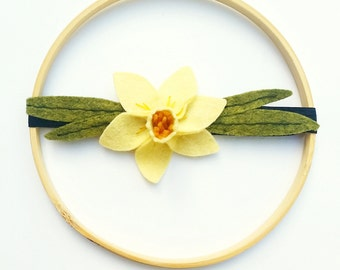 Yellow Daffodil Headband