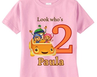 Team Umizoomi Custom Birthday t-shirt - Colors