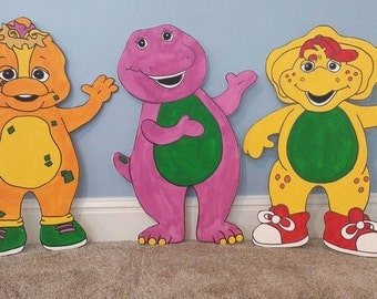 ONE 2ft Barney character cutout, standee, prop (pick a character listed or request a new one)