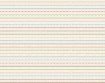 Riley Blake - Fabric by the HALF yard - School Days - Stripe Cream