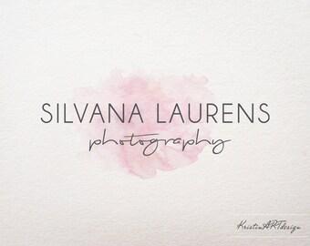 Watercolor logo design, Purple pink logo, Photography logo watermark, Premade logo 371