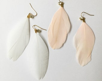 simple feather earrings (2 colors)