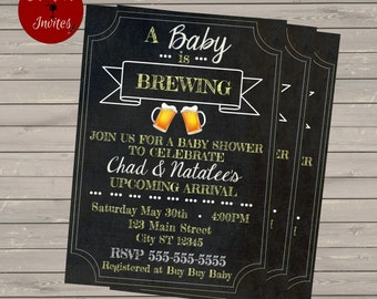 A Baby is Brewing Printable Shower Invitation
