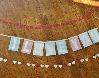 Handmade I Love You Banner