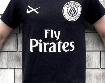 Fly Pirates Shirt Black - Freedom - Peace