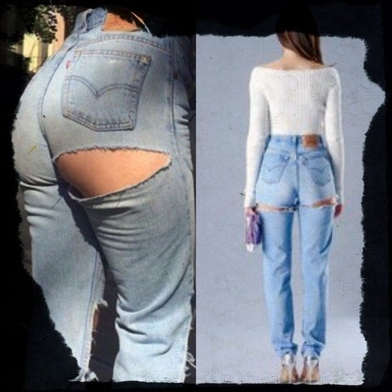 All Sizes Levis brand blue jeans high waist distressed denim WOMEN size butt slit rip jeans waist 26 27 28 29 30 32 33 34 36 38