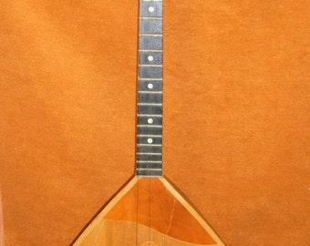 Soviet Folk Instrument, Russian balalaika, soviet vintage 3 strings
