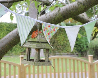 Green bunting, great for parties or a childs nursery .