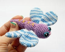 Crochet  Dragonfly , dragonfly toy decoration for child , Miniature dragonfly, tiny Amigurumi, forest funny gift,RainbowHappiness