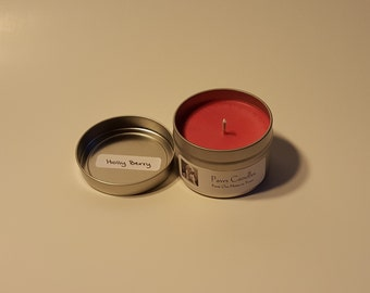 Holly Berry Tin Candle