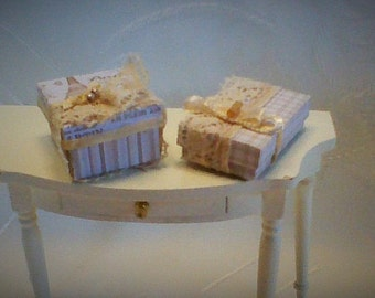Two nice box for the Lady, dollhouse miniatures 1:12