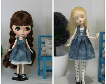 Gymslip for  Blythe, Azone, Monster High/EverAfterHig, Obitsu and same doll 1/6 size