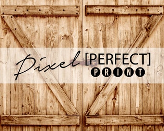 "3ft x 3ft ""Manicured Barn"" Vinyl Backdrop // Vinyl Backdrops // Vinyl Photography Backdrop // Barn Door Backdrop // Antique Door (PP677)"