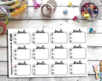 046 - (Meals Sticker Set) Breakfast, Lunch, Dinner, Planner Sticker, Kiss Cut Stickers