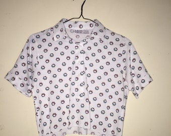 90s Belly Airplane Top