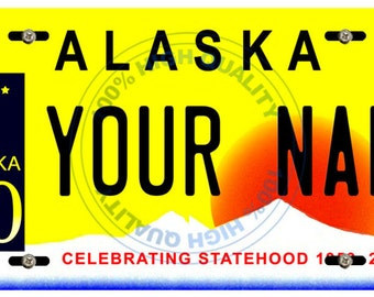 Personalized Custom Alaska Car Vehicle License Plate Auto Tag