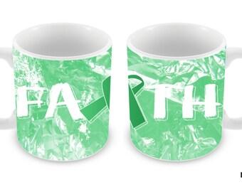 Liver Cancer Awareness Faith Ribbon 11oz Ceramic Coffee Mug