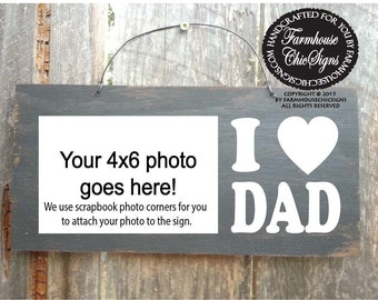 gift for dad, Christmas gift for dad, Dad Picture Frame, Father's Day Gift, Rustic picture frame, Dad frame, dad gift, 130
