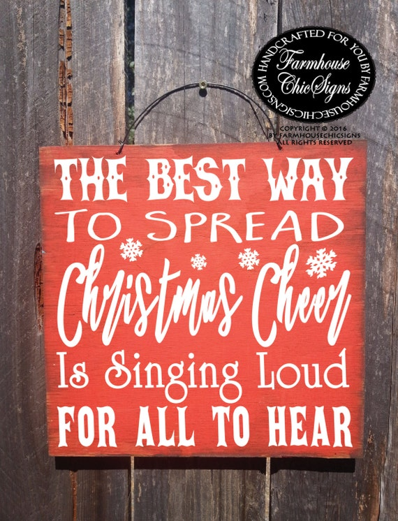 Elf quote, Christmas decoration, Christmas decor, Christmas sign, the best way to spread Christmas Cheer, Elf Christmas quote, Elf sign