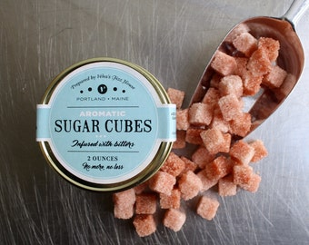 Aromatic Bitter Infused Sugar Cubes, Cocktail, Mixology, Tea, Mocktail