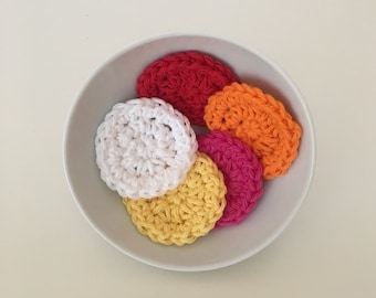 Toner Pads,Makeup Removers, Eye Make Up Removers, Face Care,Bridesmaid Gift,Cotton Rounds,Skin Care,Exfoliating Pad,Crochet Face Scrubby