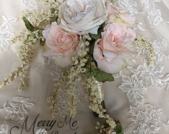 Blush Bridal Bouquet - Blush Bouquet - Light Pink Bouquet - Light Pink Bridal Bouquet - Large Blush Bouquet - Blush Rose Bouquet