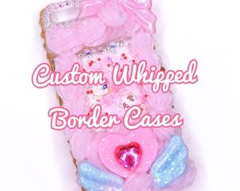 Custom Whipped Border Decoden Phone Cases