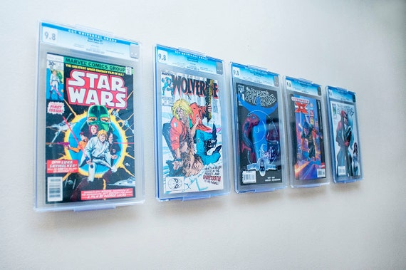 comicmount comic book display wall mount or shelf by. Black Bedroom Furniture Sets. Home Design Ideas