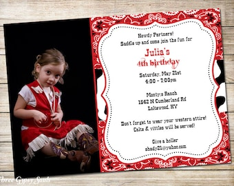 Western Invitation Cowgirl Invitation Western Cowgirl Invitation Cowgirl Birthday Party Invite Girls Western Invitation