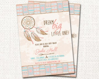 Dreamcatcher Baby Shower Invitation - Printable