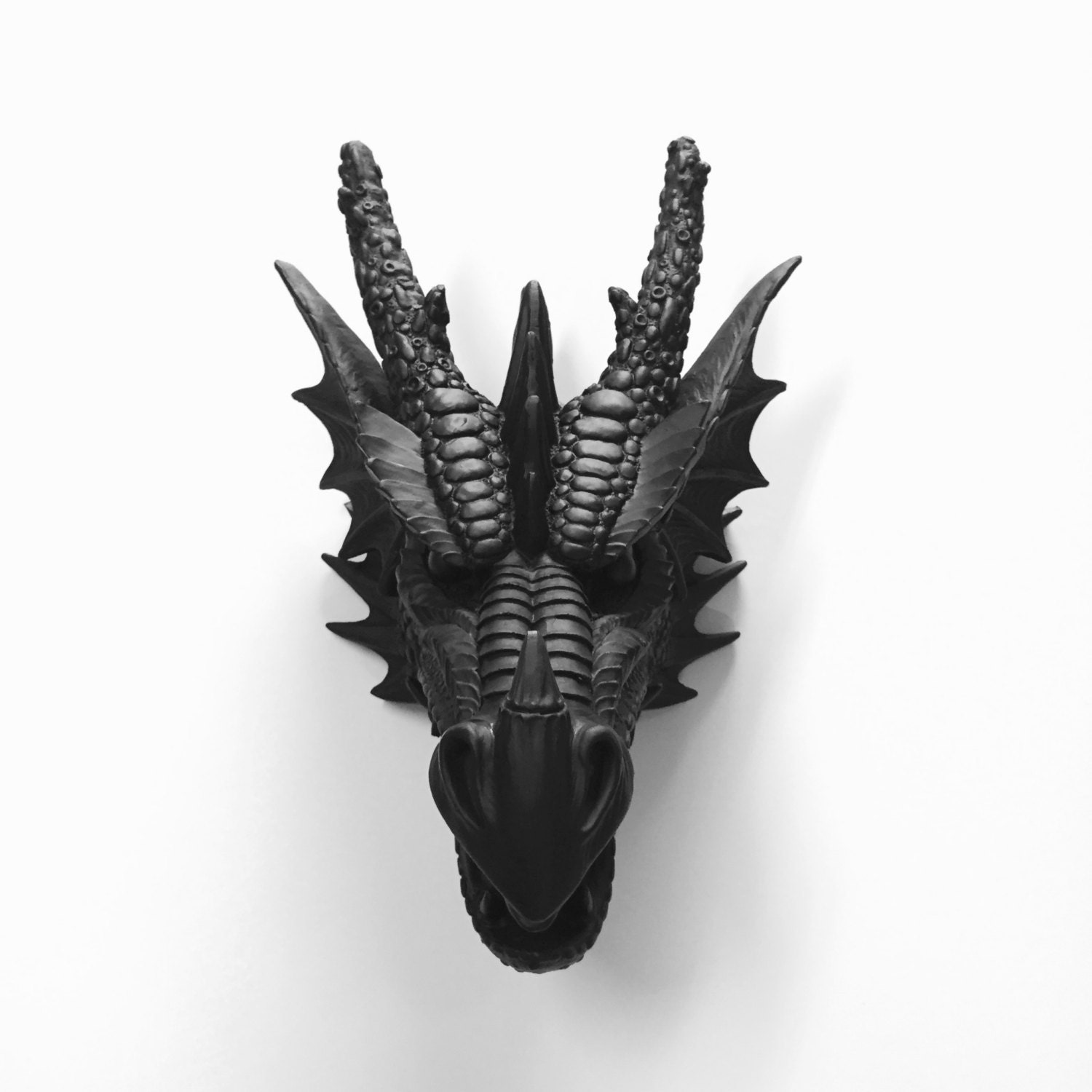 Any Color Or Black Dragon Head Wall Mount Faux Taxidermy By