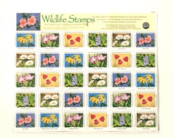 US flower stamps 1994 wild flower stamps by National Wildlife Federation