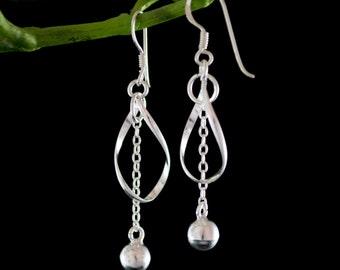 Sterling Silver Earrings, Sterling Silver Dangle Earrings, Sterling Silver Drop Earrings