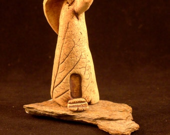 Ceramic and Slate Fairy House