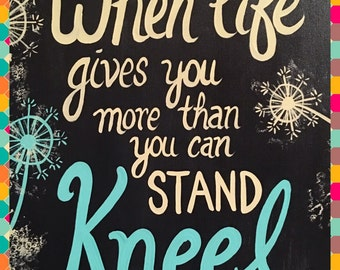 Kneel Quote Sign