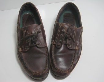 DUXBAK Boat Shoes Size: 11 Men's Leather Moccasins Vintage Retro