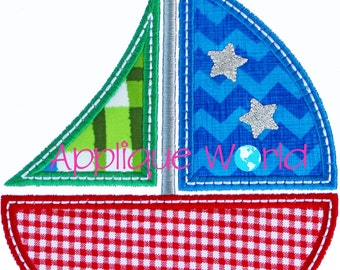 Sailboat 1 Applique Embroidery